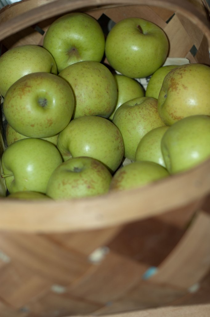 Here's the apples after we processed about half of them.