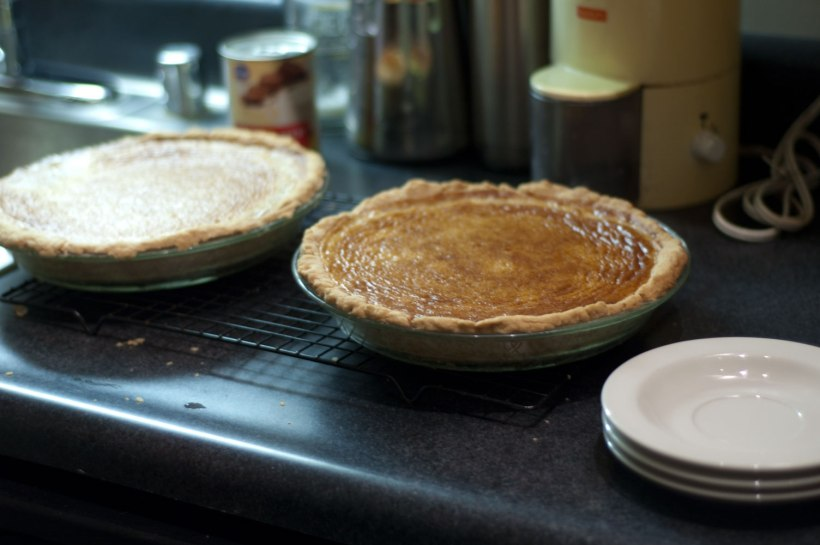 Here's what the pies looked like right out of the oven.