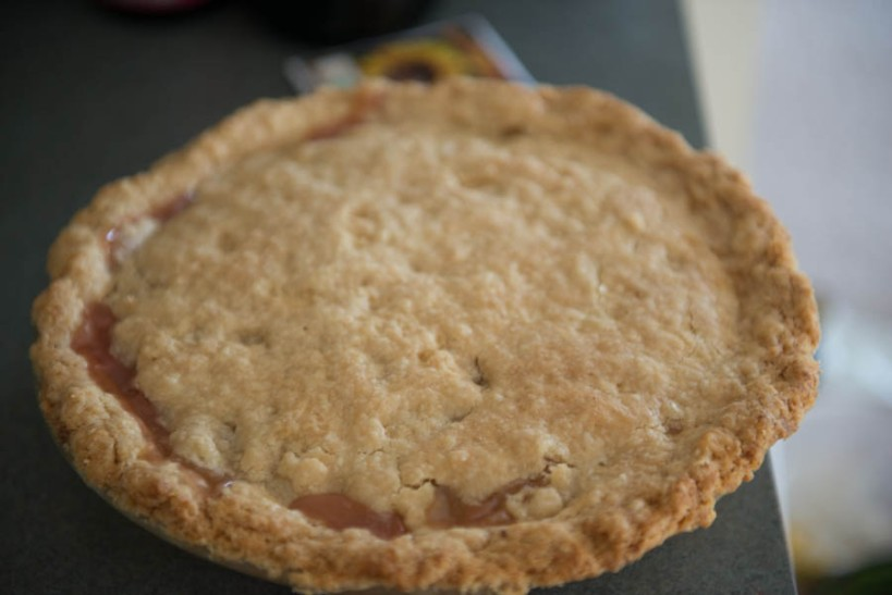 Vegan rhubarb pie.
