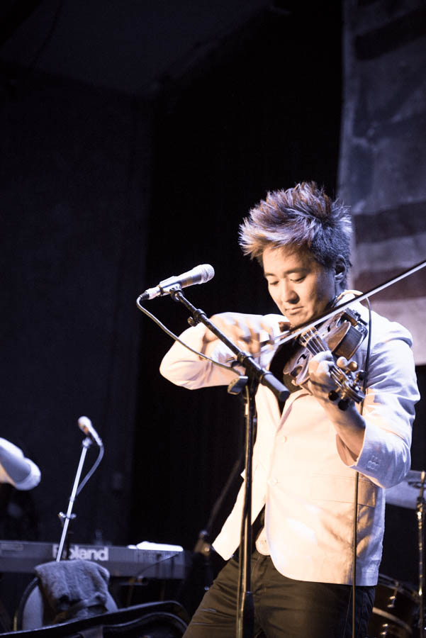 Kishi Bashi. It was hot as satan's taint in there. That jacket came off quickly.
