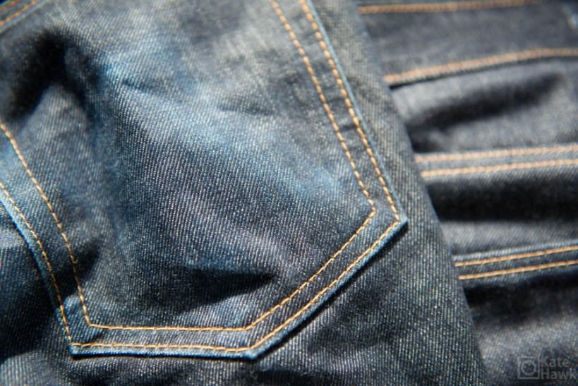 The wear patterns that are coming out on my raw jeans are really great.