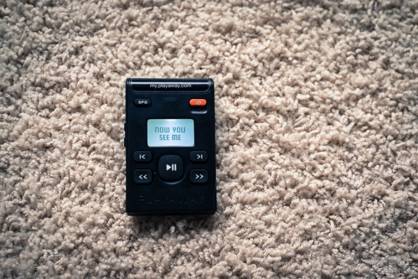 Picture of a mp3 player with one audiobook on it