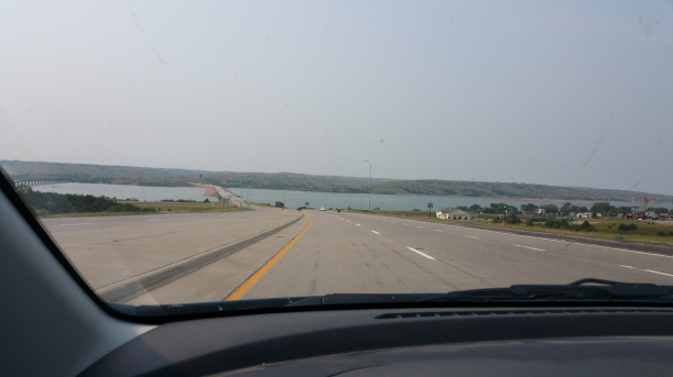 That is the Missouri River. It seems a miss to me to not have a place to pull off the highway and take a picture, but it seems South Dakota isn't so great at recognizing its natural resources.