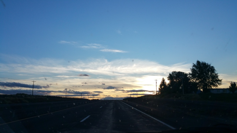 Driving into this sunset was just spectacular.