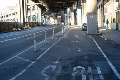 Huzzah! Protected bike lanes!