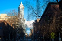 The tiny bit of Seattle that didn't go up in flames is here in Pioneer Square. It's the only part of the city with this era of architecture.