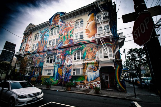 A picture of the women's building in The Mission