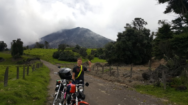 That's Turrialba behind me. We were hoping to see it erupt as it had several times the day before and after we were there.