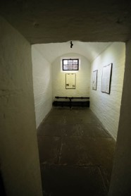 This was their solitary confinement cells. These structures were build a bit later than the big community jail cells.