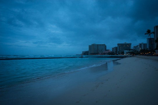 Waikiki beach at dawn.