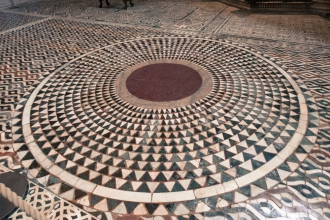 This is the floor in The Baptistry