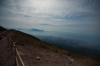 On the path to the top of Vesuvius