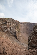The crater of Vesuvius