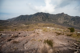The trial we hiked to get to the top of Vesuvius