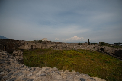 A third of Pompeii has been left underground. This is to protect it from the next Vesuvius eruption that's overdue and to protect the marble and structures from acid rain.