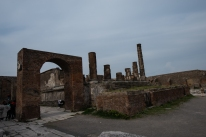 In the political center of Pompeii